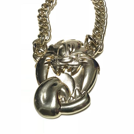 【USED】WARNER BROS. TASMANIAN DEVIL GOLD CHAIN NECKLACE