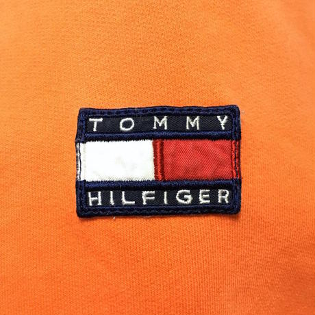 【USED】90'S TOMMY HILFIGER HI-NECK ZIP SWEAT TOP