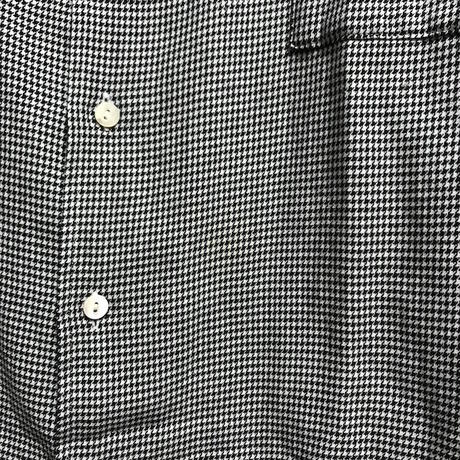 【USED】SEDITIONARIES HOUNDSTOOTH PETER PAN SHIRT BY 666