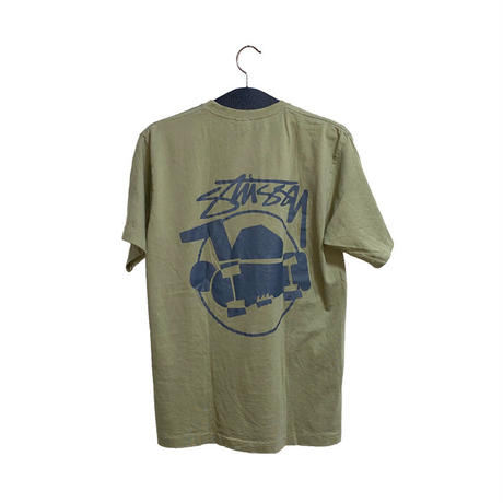 【USED】90'S STUSSY(?) SKATE MAN T-SHIRT