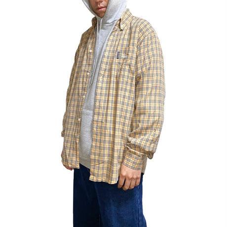 【USED】90'S BOOTLEG STUSSY NOVA CHECK B.D SHIRT