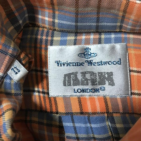 【USED】90'S VIVIENNE WESTWOOD MAN CHECK SHIRT