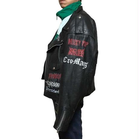 【USED】80'S HARDCORE PAINT CUSTUM RIDERS JACKET