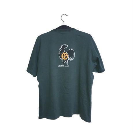 【USED】90'S STUSSY ROOSTER T-SHIRT