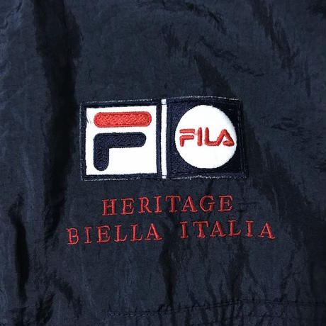 【USED】90'S FILA ITALIA EMBROIDERY NYLON JACKET
