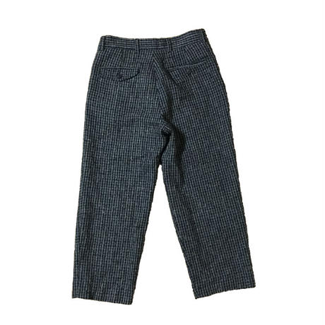 【USED】WOOL HOUNDSTOOTH CROPPED TROUSERS