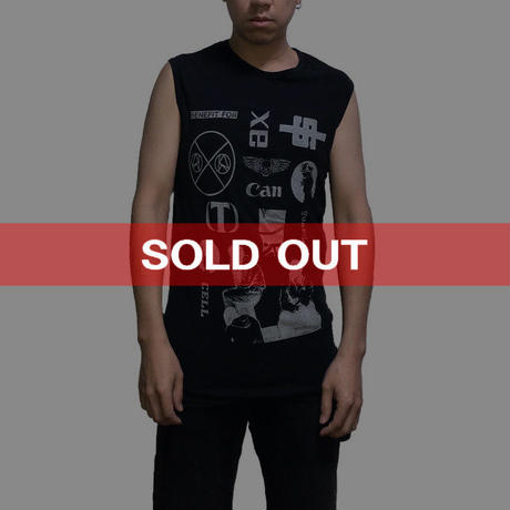 """【USED】RAF SIMONS 2003 SS """"CONSUMED"""" NO SLEEVES TEE"""