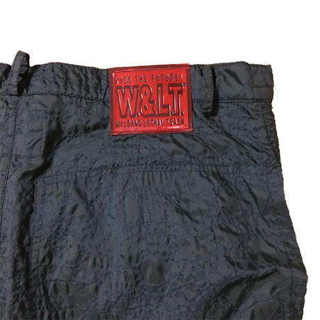 【USED】90'S W&LT CROCODILE EMBOSSING NYLON TROUSERS