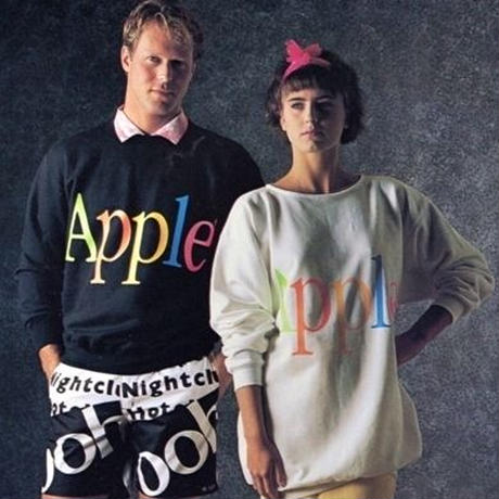 "【USED】80'S-90'S APPLE LOGO SWEATSHIRT ""FRUIT OF THE LOOM"""