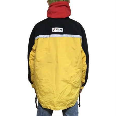 【USED】90'S FILA SKI JACKET YELLOW