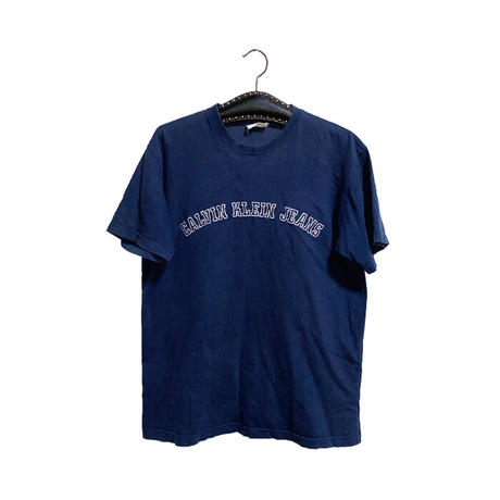 【USED】90'S-00'S CALVIN KLEIN JEANS  EMBROIDERY LOGO T-SHIRT