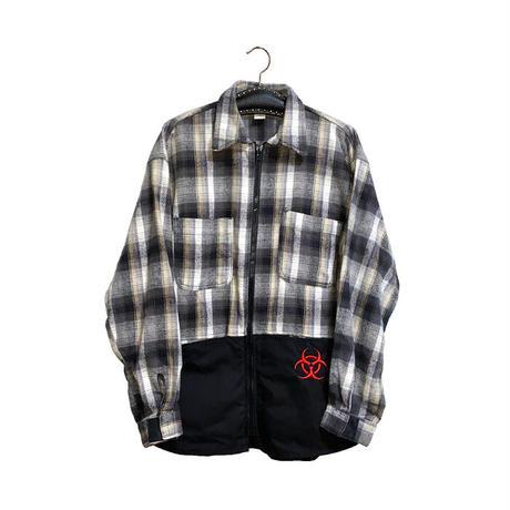 【USED】90'S HAZ-MAT SWITCHING SHIRT JACKET