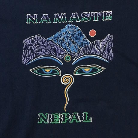 "【USED】90'S NEPAL ""BUDDHA EYES"" T-SHIRT"