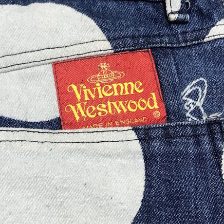 【USED】80'S VIVIENNE WESTWOOD ORB × SPOT DENIM PANTS