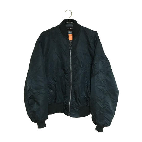 【USED】SCHOTT OVERSIZED MA-1 BLACK