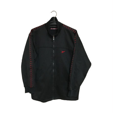 【USED】90'S REEBOK  TRACK JACKET BLACK×RED