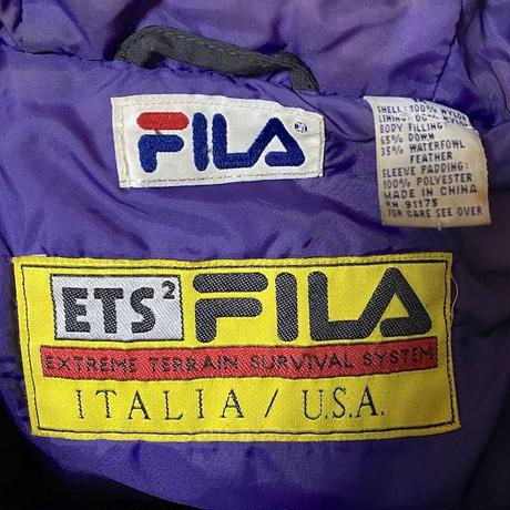 【USED】90'S  FILA HOODED DOWN JACKET