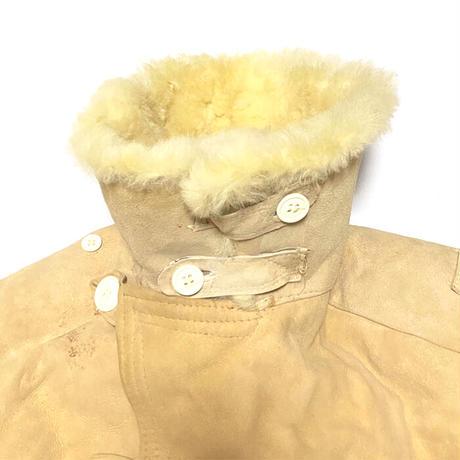 【USED】70'S RUSSIAN ARMY MOUTON SHEEPSKIN COAT