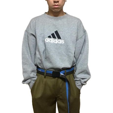 【USED】90'S ADIDAS EMBROIDERED LOGO SWEATSHIRT