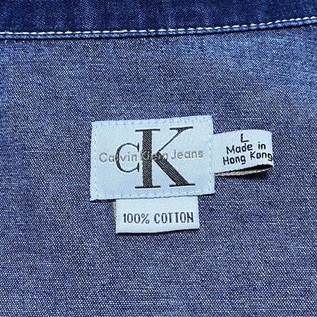 【USED】90'S CK CALVIN KLEIN JEANS ZIP DENIM JACKET