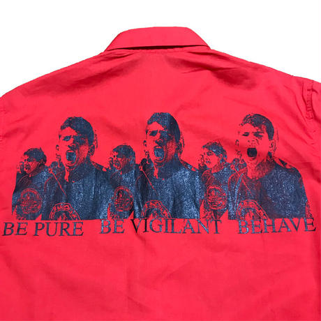 "【DEADSTOCK】RAF SIMONS 2002 SS ""BE PURE BE VIGILANT BEHAVE"" SHIRT"