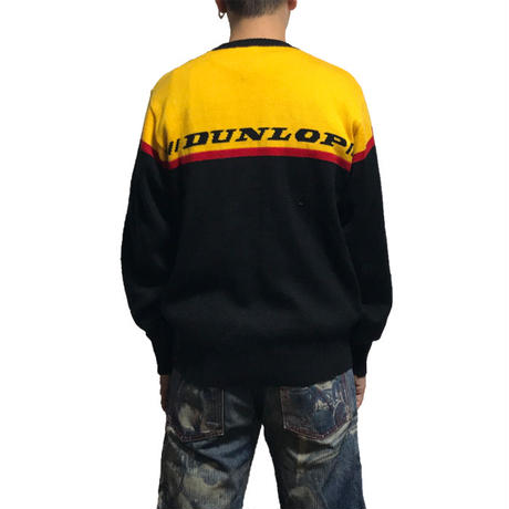 【USED】90'S DUNLOP KNIT SWEATER