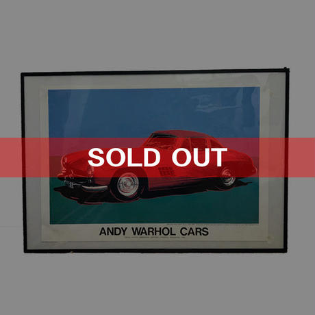 "【USED】ANDY WARHOL ""CARS"" PROMOTION POSTER MADE IN 1989"