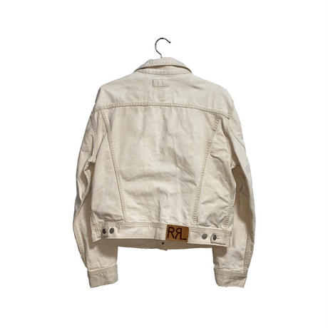 "【USED】90'S RRL RALPH LAUREN WHITE DENIM JACKET TYPE ""WESTERNER"""