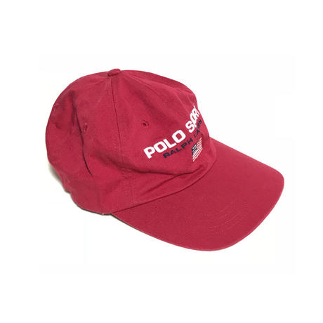 【USED】90'S POLO SPORT EMBROIDERY CAP