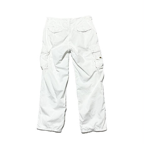 【USED】90'S-00'S POLO BY RALPH LAUREN CARGO PANTS WHITE 33/30