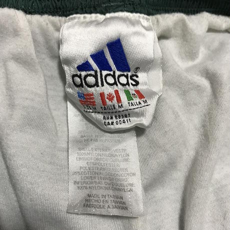 【USED】90'S ADIDAS 3-STRIPES LOGO NYLON TRACK PANTS GREEN