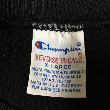 【USED】90'S CHAMPION REVERSE WEAVE BLACK