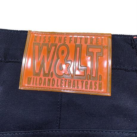 【USED】90'S W.&L.T. KNEE POCKET TROUSERS BLACK
