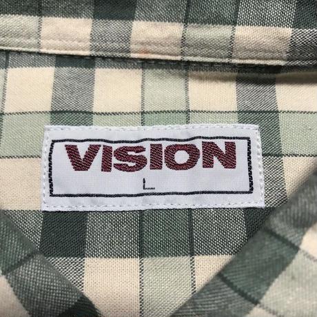 【USED】00'S  VISION CHECK SHIRT