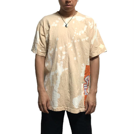 【USED】90'S  FILA BLEACHED T-SHIRT