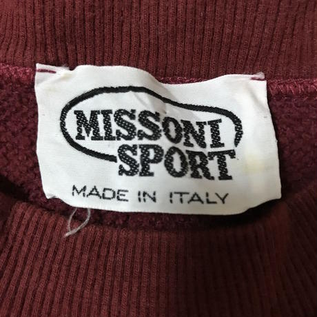 【USED】90'S MISSONI SPORT ITALY SWEAT SHIRT