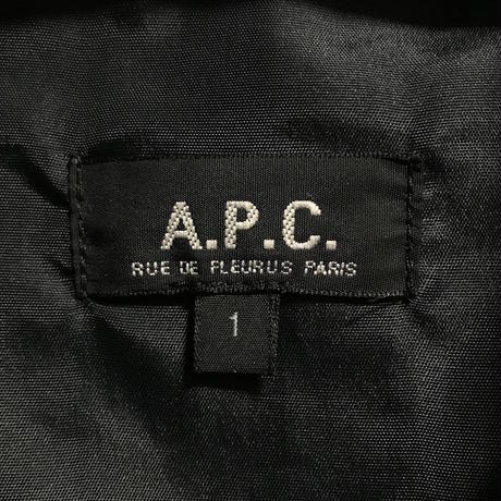 【USED】90'S A.P.C. POLYESTER BALMACAAN COAT