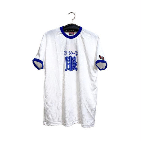 """【DEAD STOCK】90'S CY-BORG """"服"""" GAME T-SHIRT BLUE"""