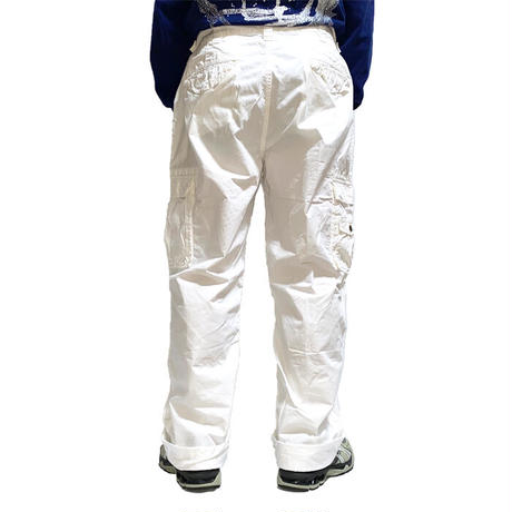【USED】90'S-00'S POLO BY RALPH LAUREN CARGO PANTS WHITE 36/32