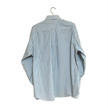 【USED】90'S TOMMY HILFIGER OVERSIZED  DOUBLE CUFFS STRIPE SHIRT