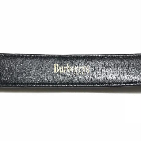 【USED】90'S  BURBERRYS SYNTHETIC LEATHER BELT