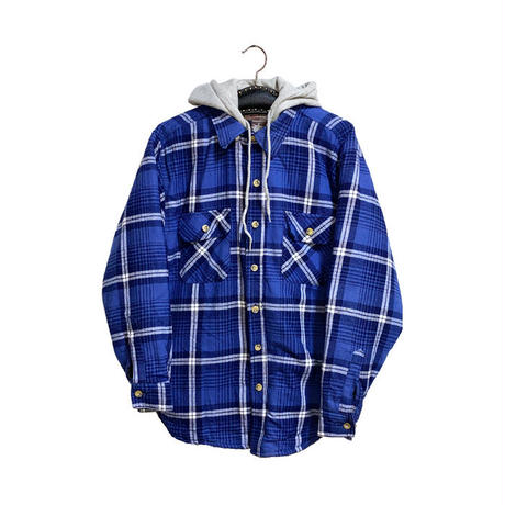【USED】00'S MOOSE CREEK COTTON FLANNEL HOODED SHIRT JACKET