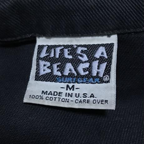 【USED】80'S LIFE'S A BEACH BAD BOY CLUB DENIM JACKET