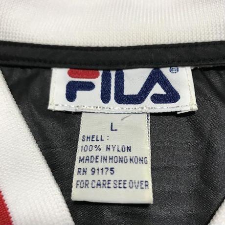 【USED】90'S FILA V-NECK NYLON PULLOVER