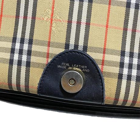 【USED】80'S-90'S BURBERRYS NOVA CHECK SHOULDER BAG
