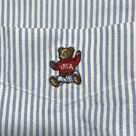 【USED】POLO BY PALPH LAUREN POLO BEAR B.D SHIRT