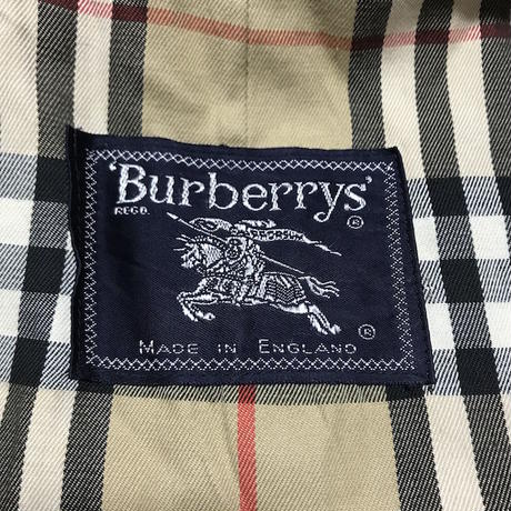 【USED】80'S BURBERRYS STAND FALL COLLAR COAT MADE IN ENGLAND