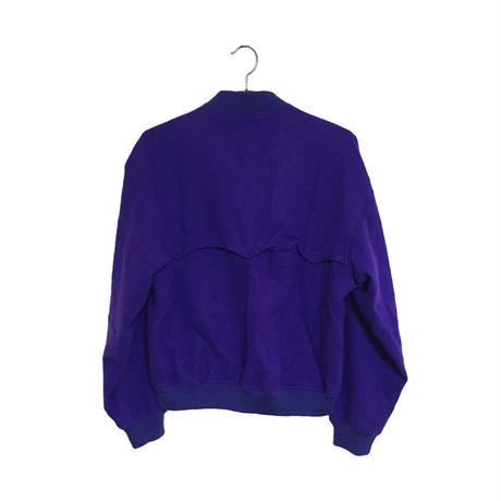【USED】90'S ADIDAS MELTON JACKET PURPLE