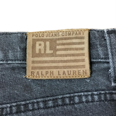 【USED】90'S POLO JEANS BLACK DENIM PANTS