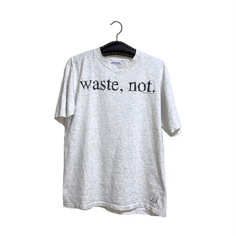 """【USED】90'S MTV """"waste, not."""" T-SHIRT"""